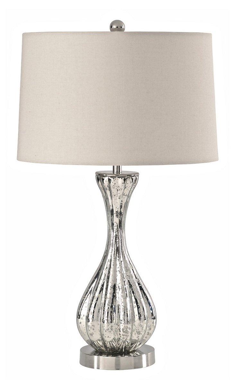 Debutante Table Lamp, Silver