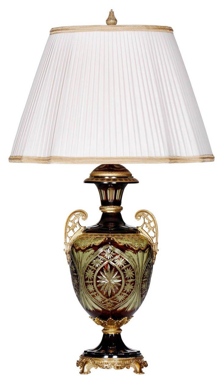 Corissant Table Lamp, Chocolate/Green