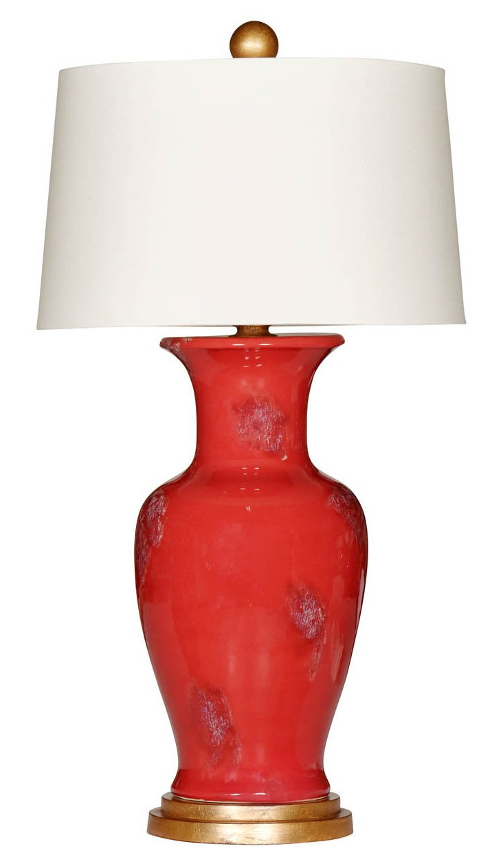 Pompeii Table Lamp, Red