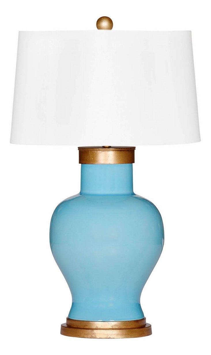 Cove Table Lamp, Aqua