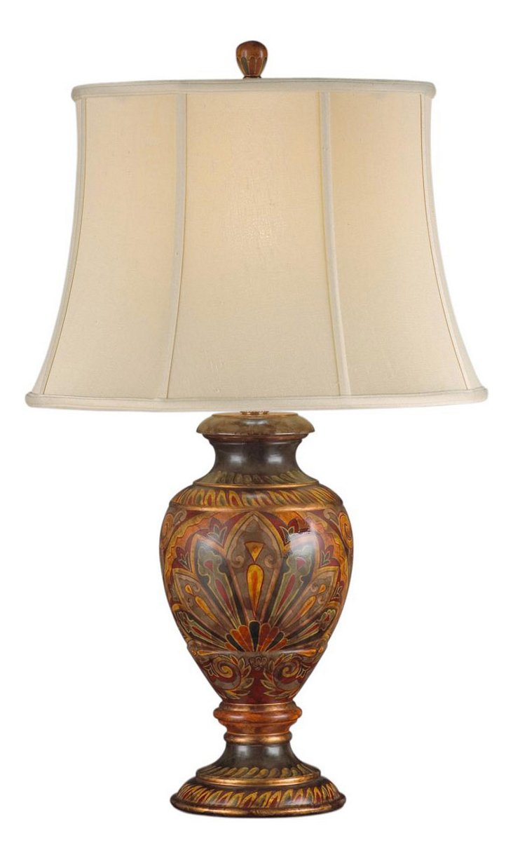 Moroccan Table Lamp, Paisley