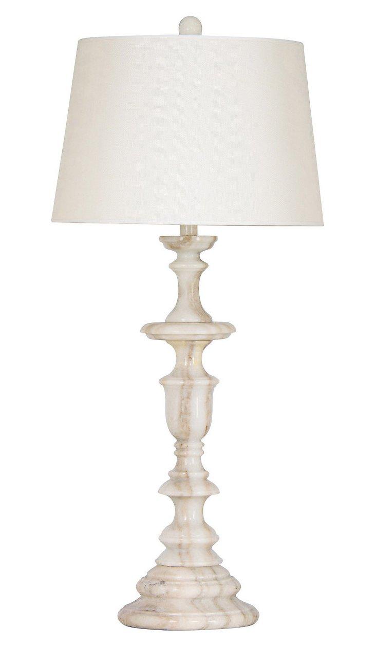 Apollo Table Lamp, Cream Marble