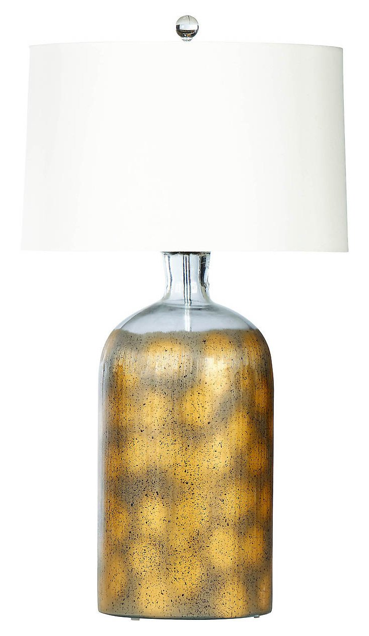 Montauk Table Lamp, Silver/Gold