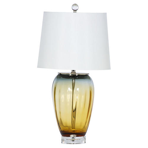 Sunset Table Lamp, Amber/Gray