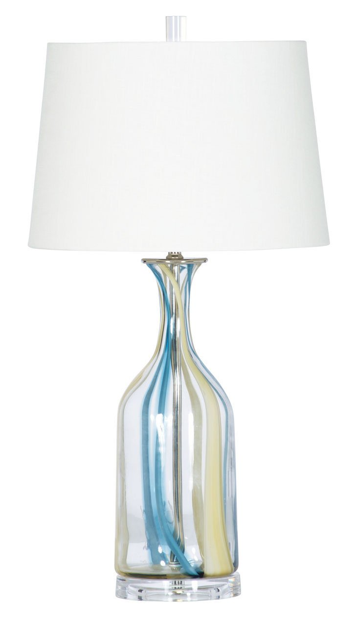 Sky Fall Table Lamp, Clear/Blue/Yellow