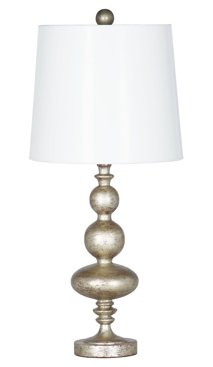 Bistro Table Lamp, Silver Leaf