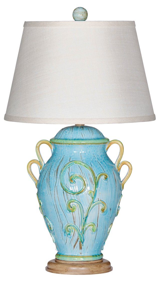 Marco Island Table Lamp, Turquoise