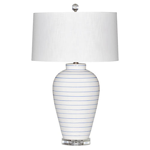 Hamptons Table Lamp, White