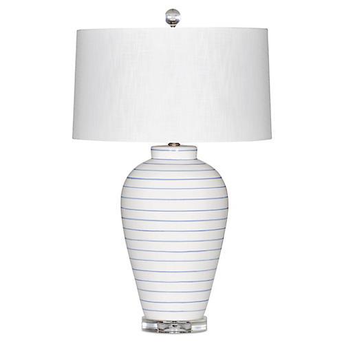 Hamptons Table Lamp, White