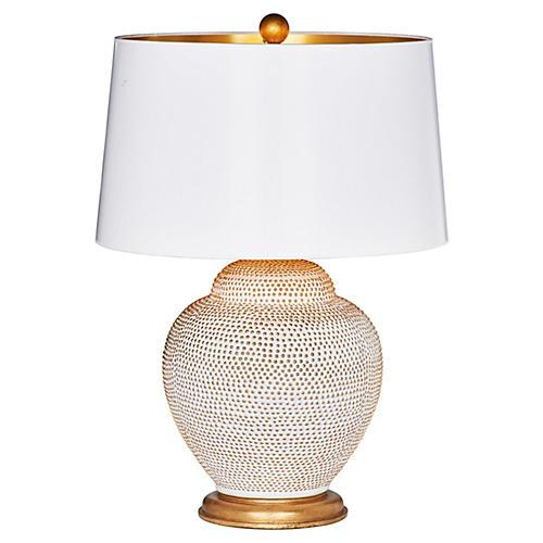 Katrina Couture Table Lamp, Cream/Gold