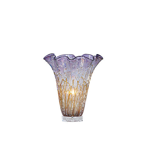 Denise Vase Table Lamp, Lavender