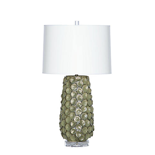 Dareau Table Lamp, Olive