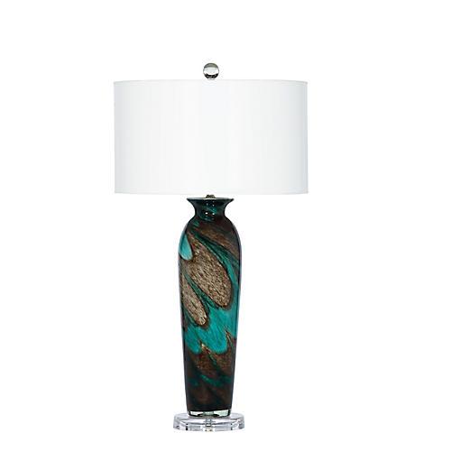 Mariza Table Lamp, Turquoise