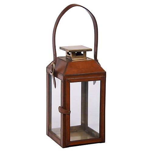 "13"" Augustine Leather Lantern"