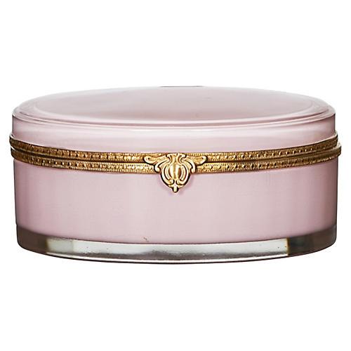 "6"" Oval Vanity Box, Pink"