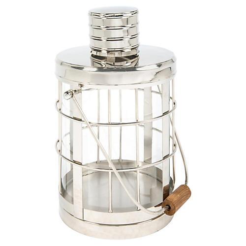 "18"" Nickel Cage Lantern"