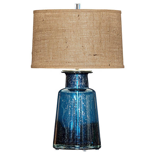 Spencer Table Lamp, Blue