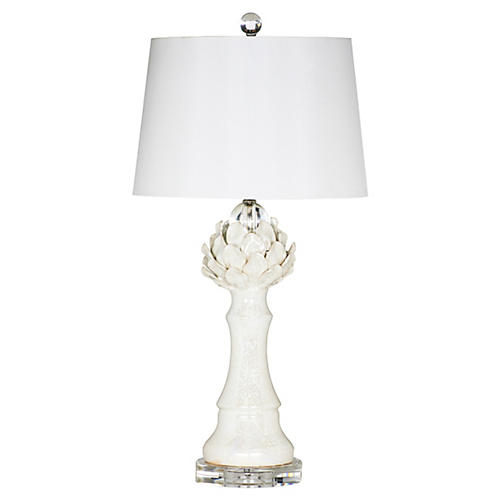 Leilani Table Lamp, Cream