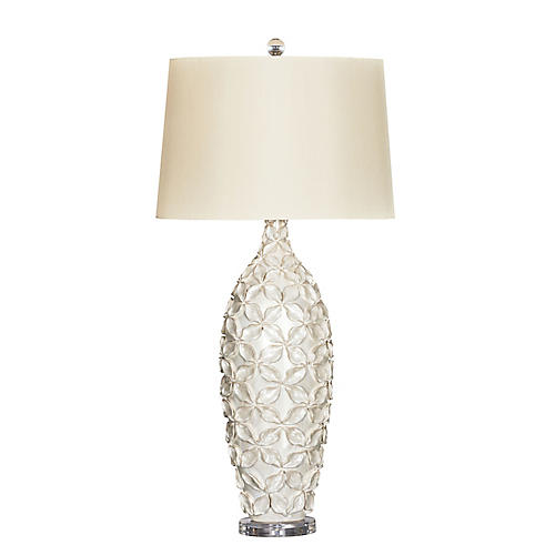 Lily Pearl Table Lamp, Cream
