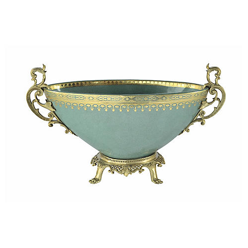 "13"" Vanity Bowl, Celadon"