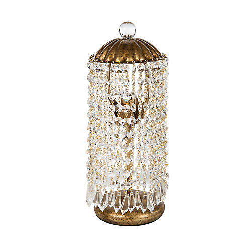 Camley Crystal Table Lamp, Gold
