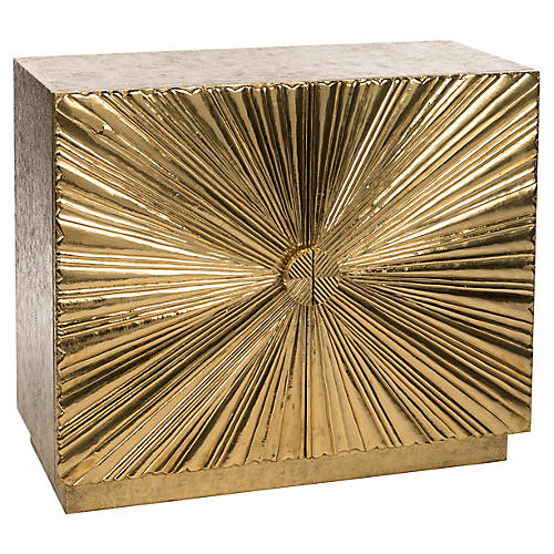 Sunburst Cabinet, Gold