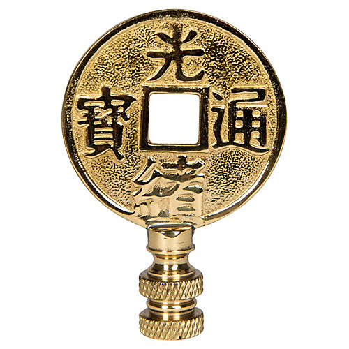 Asian Coin Finial, Gold