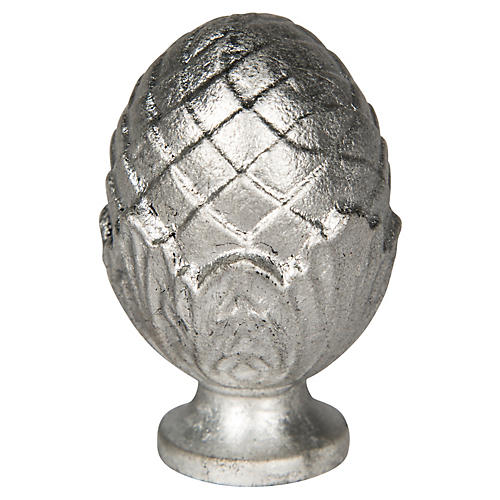 Pine Nut Finial, Silver