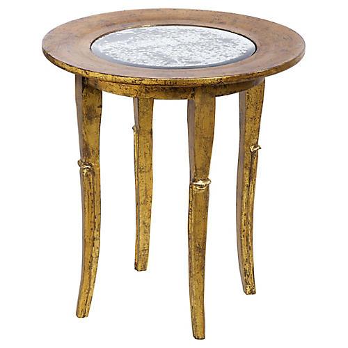 Flint Side Table, Gold
