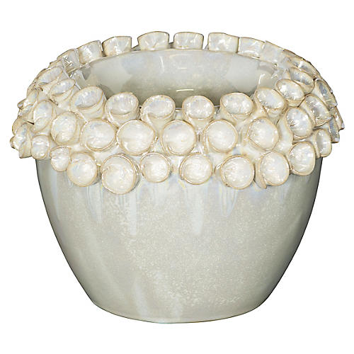 "6"" Pearl Votive, Off-White"