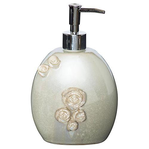 "8"" Pearl Soap Dispenser, Off-White"