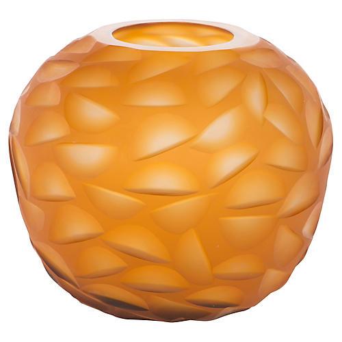 """7"""" Leahy Chiseled Vase, Gold"""