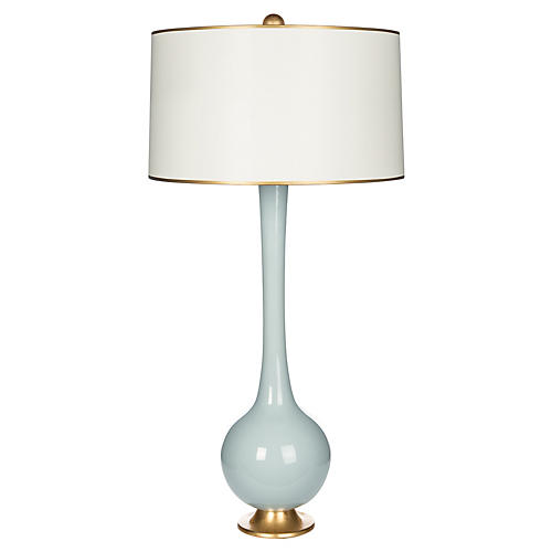 Lela Table Lamp, Light Blue/Gold
