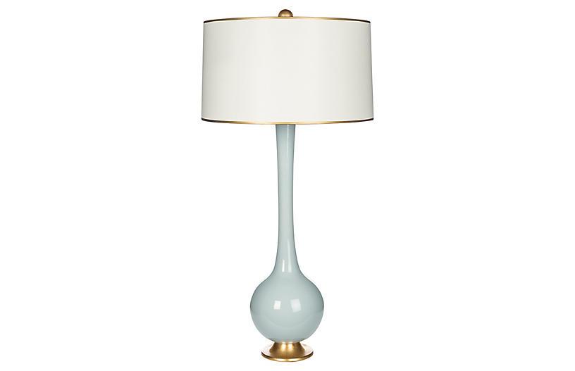 Lela Table Lamp, Light Blue/Gold
