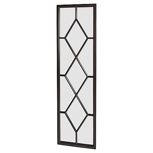 Trellis Floor Mirror, Black
