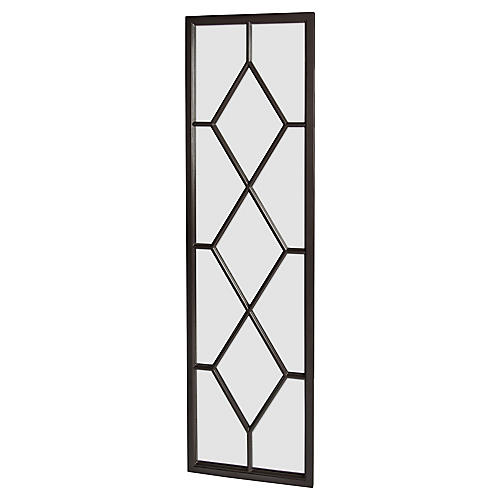 Trellis Floor Mirror, Black
