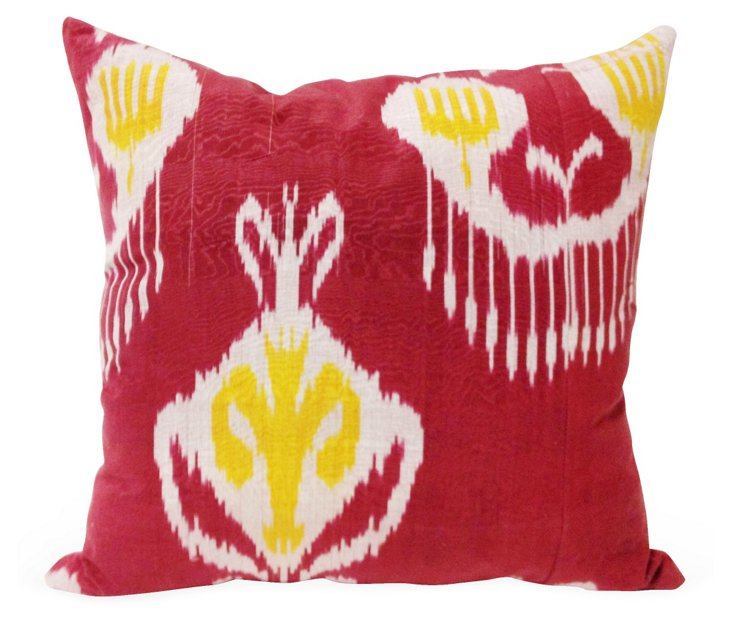 Ikat 20x20 Pillow, Red