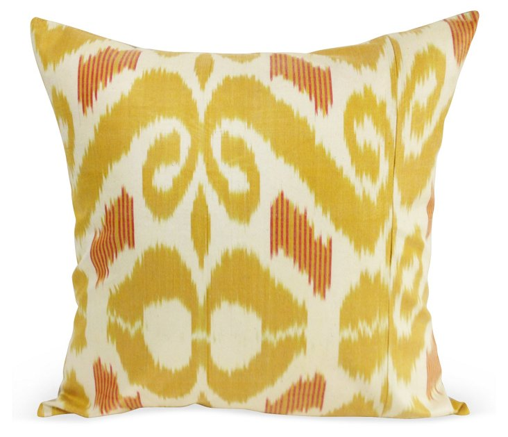 Mirror 20x20 Pillow, Yellow