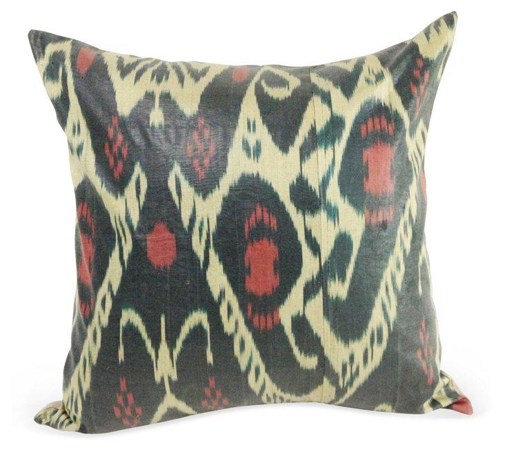 Ikat 20x20 Pillow, Green