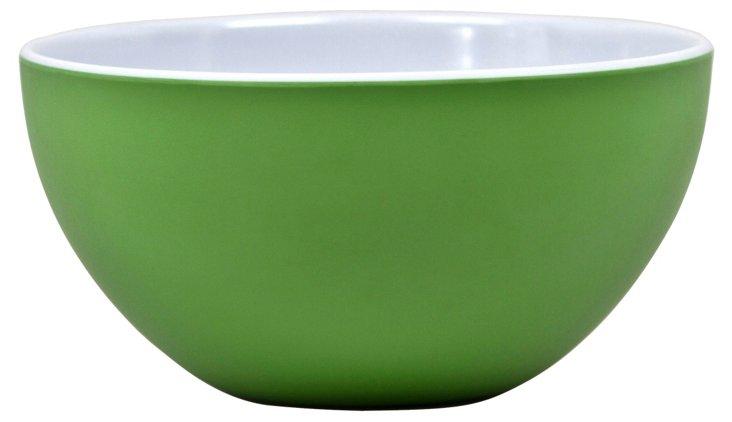 Victorian Melamine Serving Bowl, Green