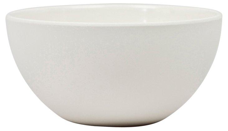 S/4 Melamine Moon Cereal Bowls, Ivory