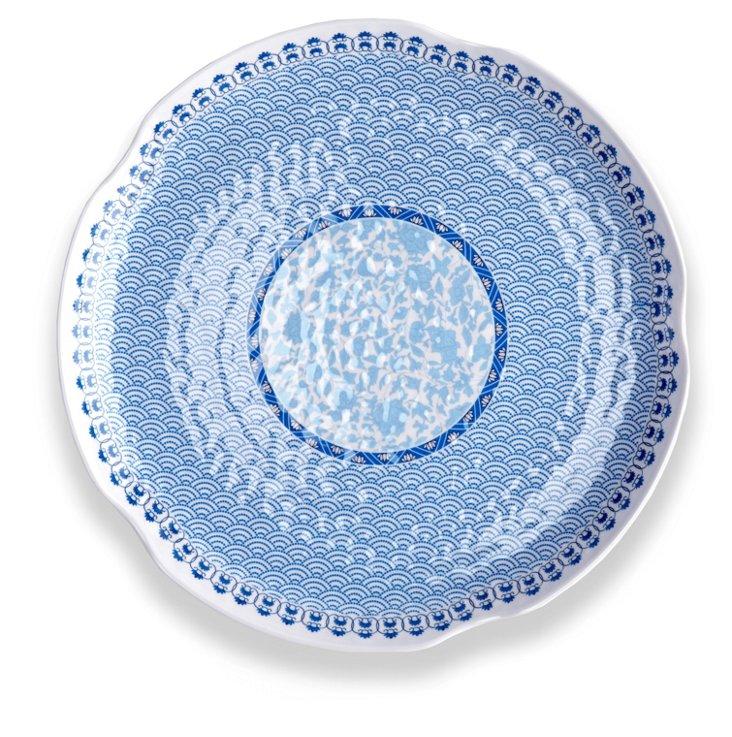 Melamine Heritage Platter, Blue