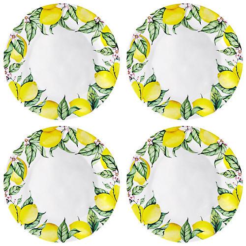 S/4 Limonata Melamine Dinner Plates, Yellow