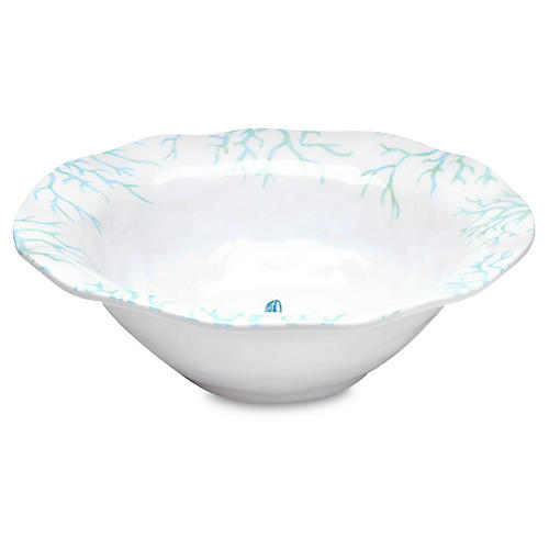Captiva Melamine Serving Bowl, Teal