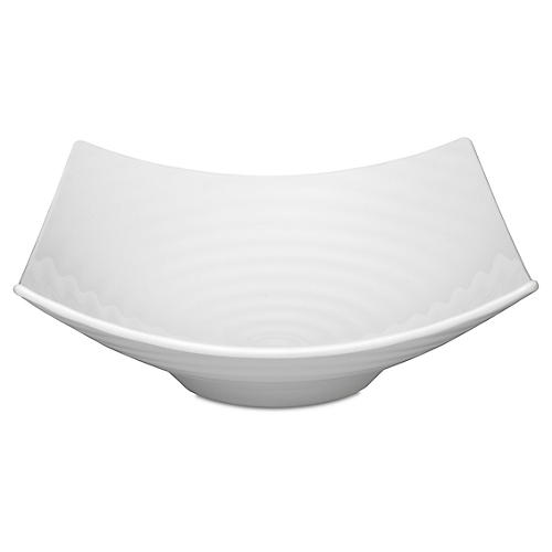 Zen Melamine Serving Bowl, White