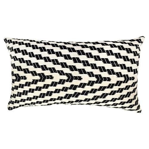 Almolonga 12x20 Pillow, White/Black