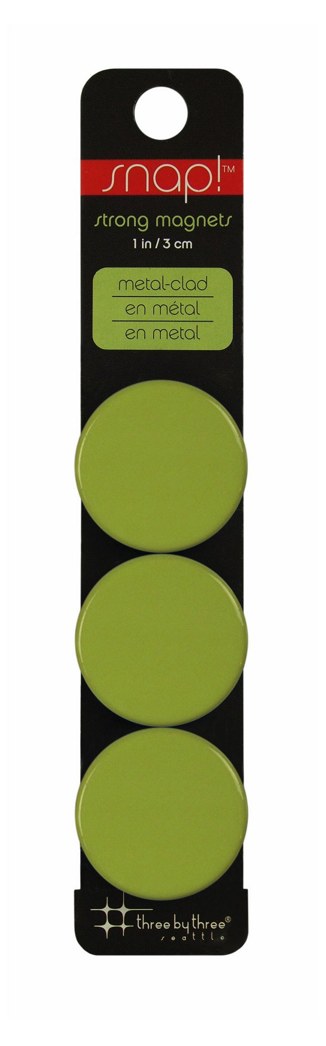 Snap! Strong Green Magnets, S/12