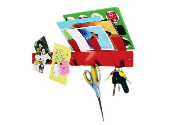 Hook-Up! Strip Mail Holder, Red