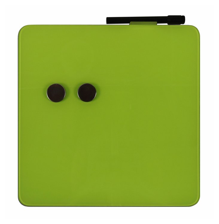 Magnetic Glass Square Board Set, Green