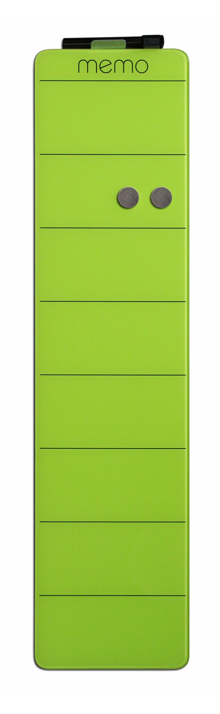 Magnetic Glass  Memo Board, Green